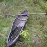 Schweden - Einbaum-Kanu am Opfersee in Tanum