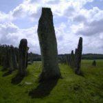 Schweden - Steinkreis mit Blick auf den Hauptstein