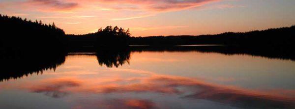 Schweden - Sonnenuntergang am See
