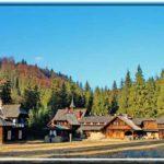Karpaten - Rumänien - Blick auf das Jagdschloß -ganz