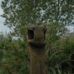Norwegen - Drachenkopf aus Holz geschnitzt im Vikingerdorf Foteviken