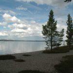 Norwegen -Blick auf den Femundsee, vom Ufer aus.