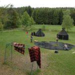 Vereinsaktivitäten - Sommerlager, aufbau der Zelte
