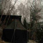 Vereinsaktivitaeten - Kote vor dem Vereinshaus im Winter