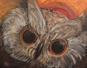 Sonja Wasser - Gemälde - Eule