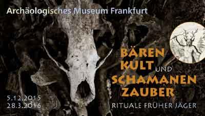 Bärenkult und schamanenzauber-Museumsplakat