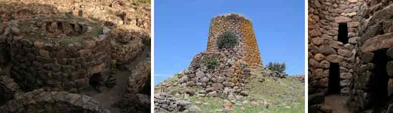 Forschungsreise Sardinien - Drei Bilder von Nuraghi