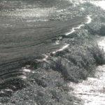 Sardinien - Meeresbrandung in Silber