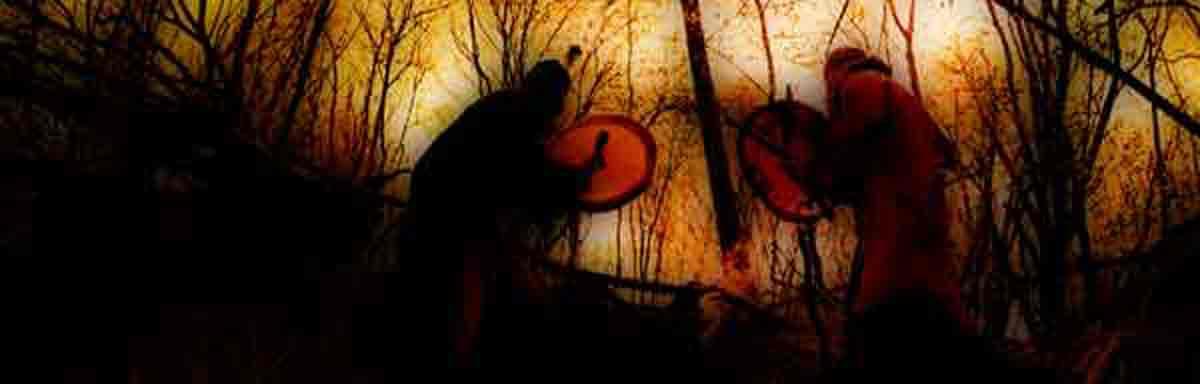 Was ist Schamanismus - Zwei trommeln im Wald