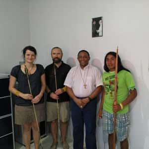 Bogenschießen in Brasilien mit Klemens Schmelter - Treffen mit dem Bischof