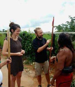 Bogenschießen in Brasilien mit Klemens Schmelter - Klemens mit Bogen