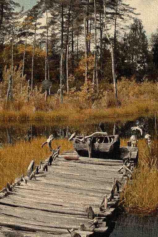 Holzsteg am Opfermoor - Bronzezeit, Schweden