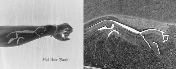 Tätowierung und Original vom Uffington_Horse