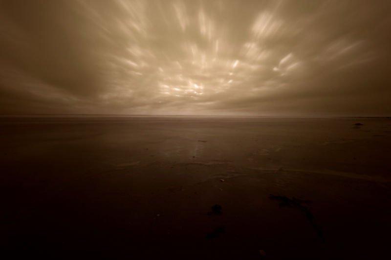 Blick am Abend auf die Nordsee